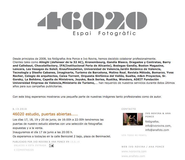 46020 Studio: puertas abiertas del 17 al 20 de junio
