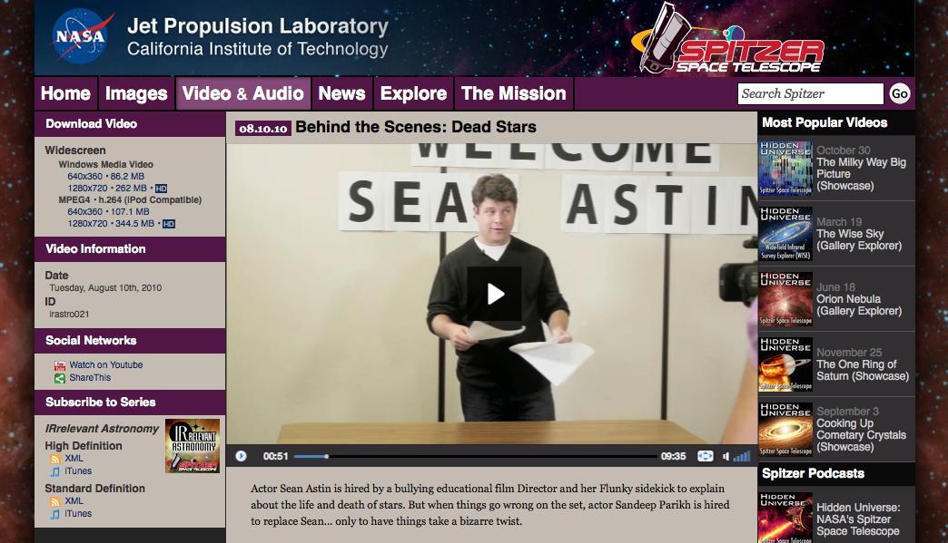 El humor como instrumento de comunicación… en la NASA!