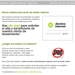 Newsletter App o cómo evitar ser considerado un Spammer